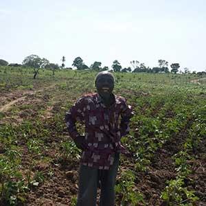 Glücklicher Farmer
