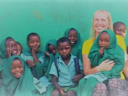 Sandra Voogd mit Kindern