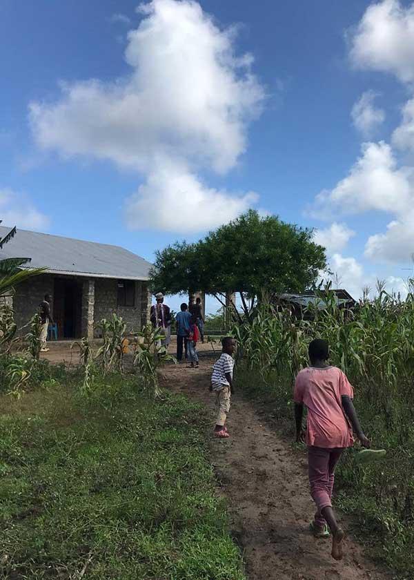 Kinder auf der Farm